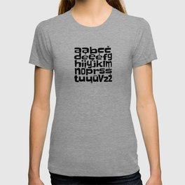 Lithuanian Alphabet T-shirt