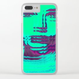 glitchy sqaure Clear iPhone Case