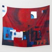 ballon Wall Tapestries featuring Red ballon by Nathalie Gribinski