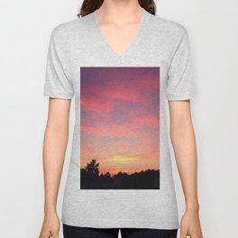 Cotton Candy Skies Unisex V-Neck
