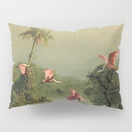 Spoonbills in the Mist Pillow Sham