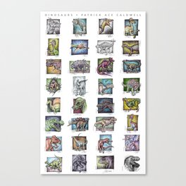 Dinosaurs Compilation Canvas Print