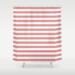 Rose Gold Stripes Shower Curtain