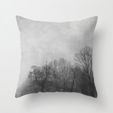 Winter In Black and White Throw Pillow