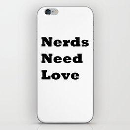 Nerds Need Love iPhone Skin