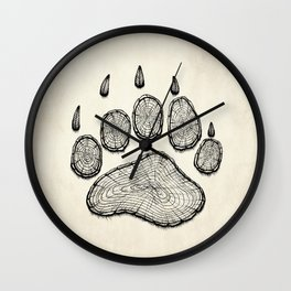 Bear in the woods Wall Clock