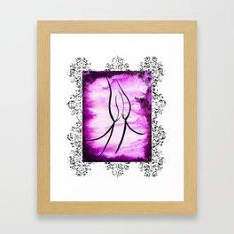 Purple Pleasure Ornate Framed Art Print