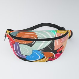 Love your family expressionist cubist street art Fanny Pack