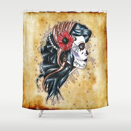 gypsy girl tattoo Shower Curtain