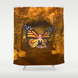 Cave Dweller Butterfly Fairy Shower Curtain