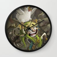 zelda Wall Clocks featuring Zelda by Dave Armstrong