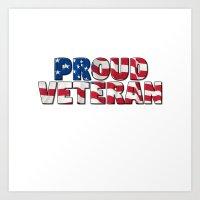 Proud American Veteran Art Print