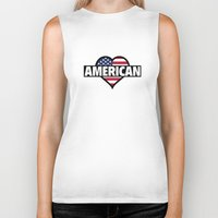 american Biker Tanks featuring American by AmazingVision