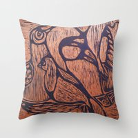 wesley bird Throw Pillows featuring bird      by Amy Fan