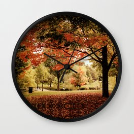 Red Maple in Larz Anderson park. Wall Clock