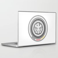 germany Laptop & iPad Skins featuring Germany Crest by George Williams