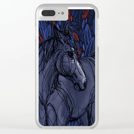 Valor the Mustang Clear iPhone Case