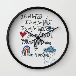 Family Motto Wall Clock