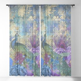 Feather Peacock 20 Sheer Curtain