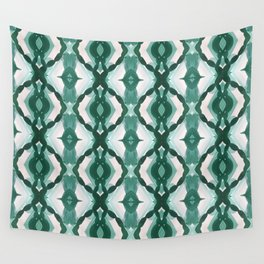 Watercolor Green Tile 1 Wall Tapestry