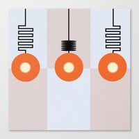 the lights Canvas Prints featuring Lights by Nope