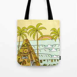 a frame dream home in paradise simple life by surfy birdy Tote Bag