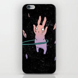 Hula Hooping Rabbit in Space iPhone Skin