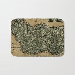 Vintage Map Of Ireland 1771 Bath Mat