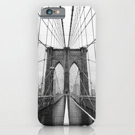 Black and White of Brooklyn Bridge iPhone Case