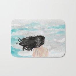 Wind in her hair Bath Mat