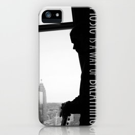 Music is Breathing iPhone Case