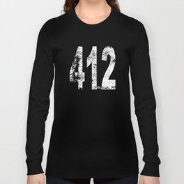 Vintage Pittsburgh Area Code 412 Long Sleeve T-shirt
