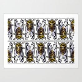 Amber Cicadas Art Print