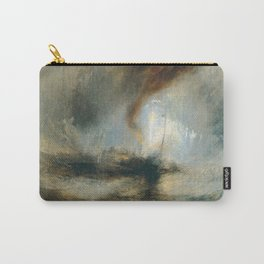 """J.M.W. Turner """"Snow Storm - Steam-Boat off a Harbour's Mouth"""" Carry-All Pouch"""