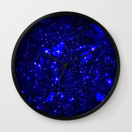 Dark Matter Galaxy Blue Wall Clock