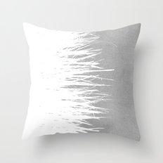 Concrete Fringe White Side Throw Pillow
