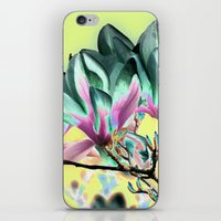 aelwen iPhone & iPod Skins featuring MAGNOLIA - PopArt by CAPTAINSILVA