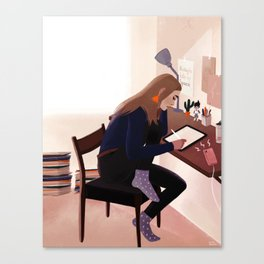 Workspace art Canvas Print