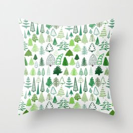 holiday trees! Throw Pillow
