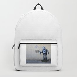 Banksy Robot (Coney Island, NYC) Backpack