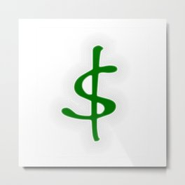 Shrinking Dollar Metal Print