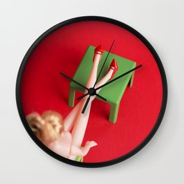 Work Naked Day Wall Clock