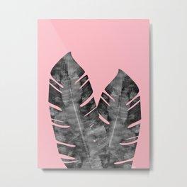 Composition tropical leaves XVI Metal Print