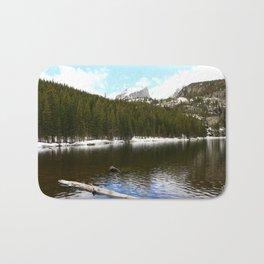Snow At Bear Lake - Rocky Mountains NP Bath Mat