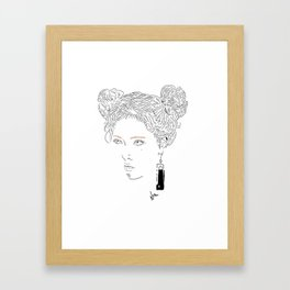 HYUN A Framed Art Print