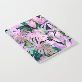 Tropical Night Magenta & Emerald Jungle Notebook