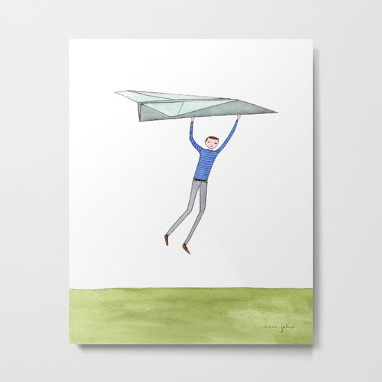 hang on to your paper airplane Metal Print