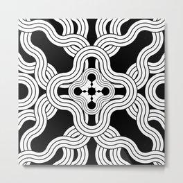 Weaver Mandala Metal Print
