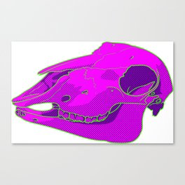 Neon Sheep Skull Canvas Print