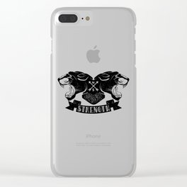 Panther Strength Clear iPhone Case
